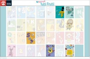 Tutti Frutti - interaktiv skrivtavla. Uppdragsgivare: Natur & Kultur. Uppdrag: konceptutveckling, projektledning, redaktörsjobb.