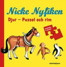 Nicke Nyfiken, Djur - Pussel och rim. Uppdragsgivare: Rabén & Sjögren. Uppdrag: översättning, redaktörsjobb.
