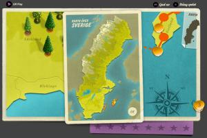 Klicka på kartikonen för att få en översiktskarta över Sverige.