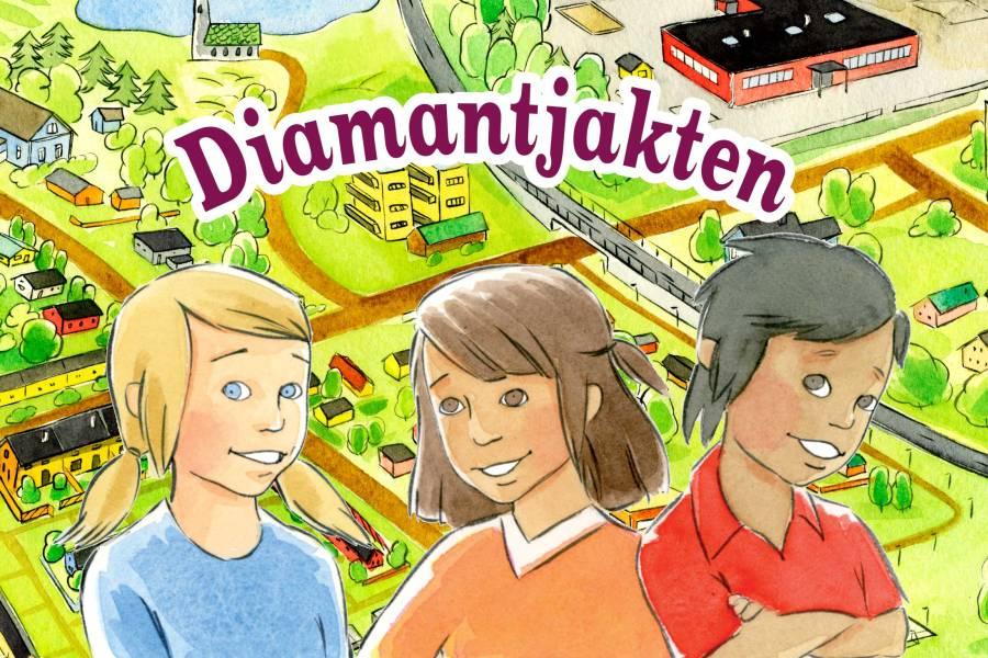illustration: tre barn