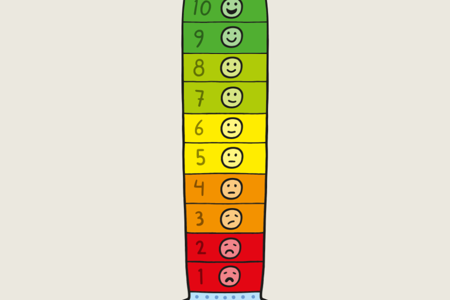 färgglad mätsticka